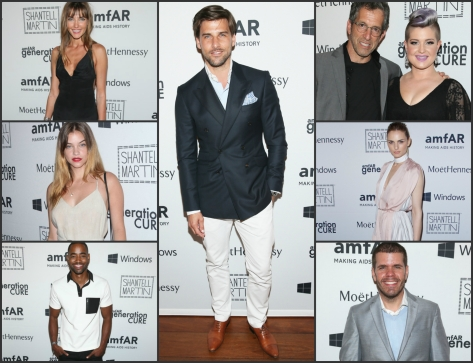 (Left top to bottom) Barbara Palvin,  Kenneth Cole, Kelly Osbourne, Alina Baikova   Event Chair Johannes Huebl (Middle),   (Right top to bottom) Event Chair Jay Ellis, Event Chair Andreja Pejić, Event Chair Perez Hilton