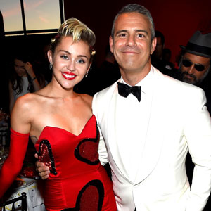 Miley Cyrus and Andy Cohen
